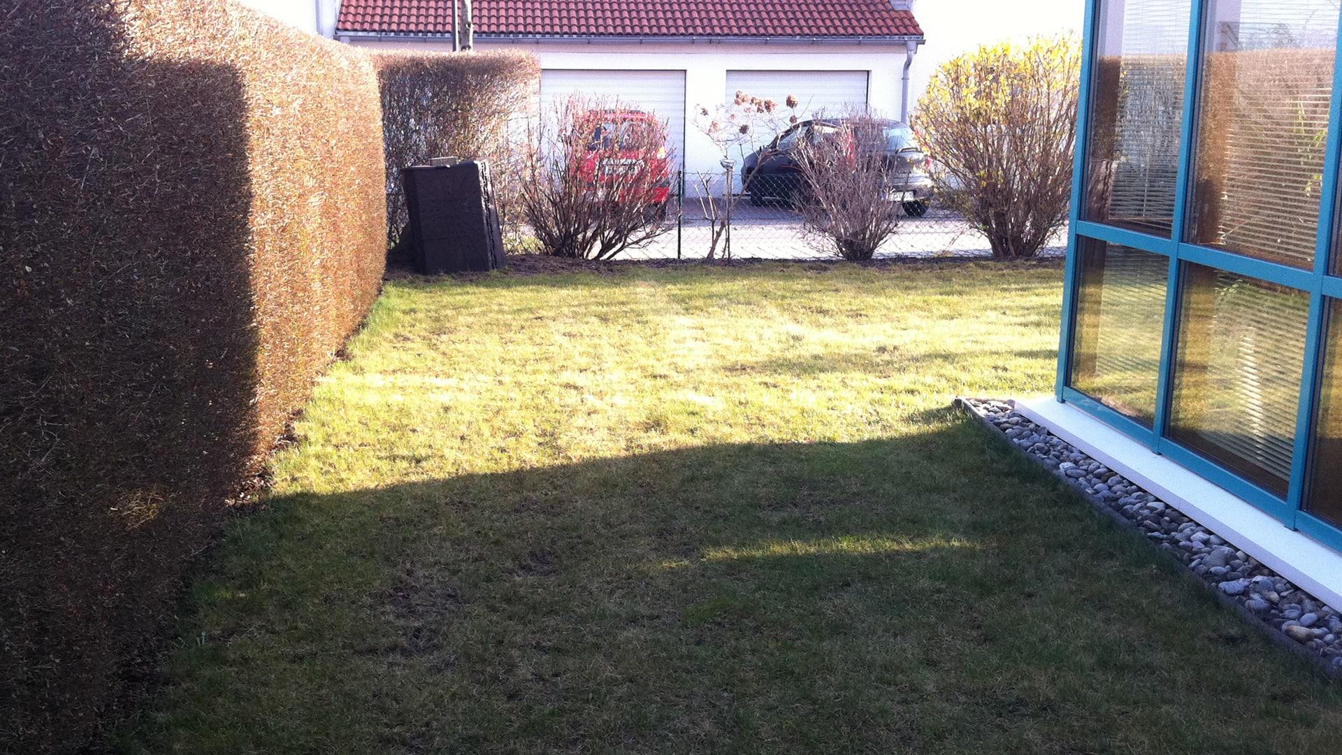 Garten mit stilvollem Sichtschutz HEWI Gartengestaltung